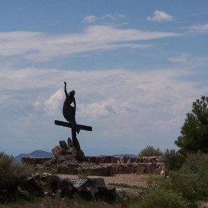 """Resurrection"" by sculptor Huberto Maestas 